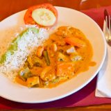 Poulet thai au curry rouge